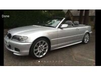 2005 55 BMW 320cd Diesel M-Sport Convertible with Leather & Sat Nav FSH