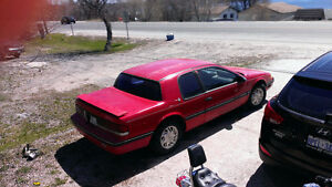 1989 Mercury Cougar Red Coupe (2 door)