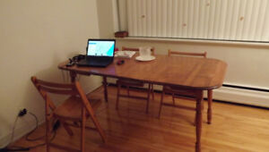 wood table (& chairs)