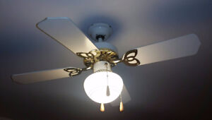 Selling six white ceiling fans
