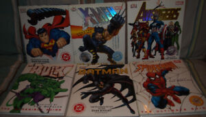 7 livres Ultimate Guide Hulk Avengers Superman Batman Spiderman
