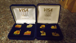 2 different 1992  Olympic pin sets
