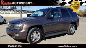 CERTIFIED 2008 CHEVY TRAILBLAZER 4WD - BRAND NEW TIRES - YORKTON