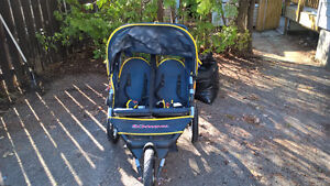 2 double strollers,3 playpens,2 single strollers 1 highchair