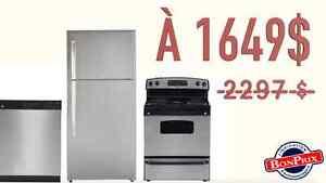 **PROMOTION** Frigo+Cuisinier+Lave-vaiselle=1649$