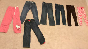 Size 5T Girls pants! 7 pairs of pants! Excellent Condition $45