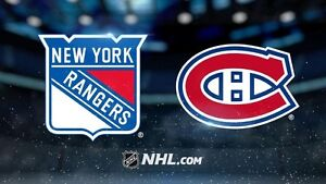 Canadiens reçoit New-York Rangers
