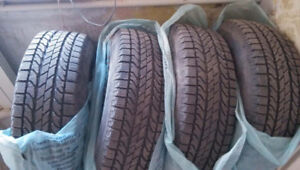 245/65R17 BFG WINTER SLALOM SET OF 4 used tires 75%TREAD LEFT