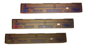 Konica Minolta TN512 CYM Toner Cartridge Set for Bizhub