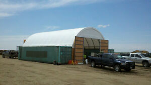 Fabric Shelter / Shipping Container Building