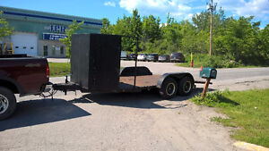 Car Hauler Tow dolly trailer beaver tail winch 3000 LB Flat bed