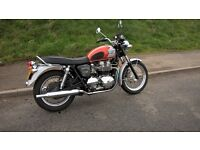 Triumph Bonneville T100 centennial model. Rare and collectable
