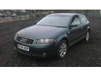 Audi A3 2.0 FSI SE 3 DOOR - 2004 54-REG - 10 MONTHS MOT