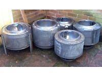 Garden Fire Pits Upcycled from Washing Machine Drums