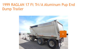 Pup dump trailer