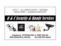 B.c security & handy services (CCTV electrical decking etc)