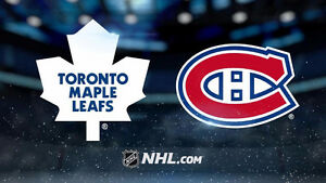 2 billets blancs Canadiens vs Maple Leafs 19 novembre COST