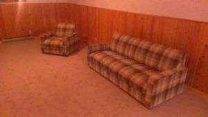 Cool vintage retro couch and chair