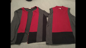 Ladies sweater set and sweater $5 each