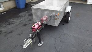 Remorque de camping en aluminium pour moto ou petite voiture West Island Greater Montréal image 4