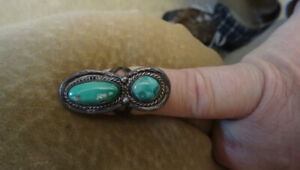 Unique Handmade Silver and Turquoise Ring