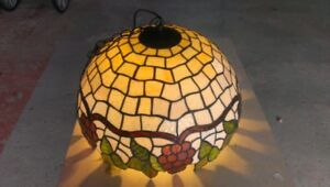 Hanging stain glass light