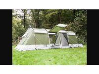 Skandika Montana 8 man tent + Gelert Tanis side awning *EXCELLENT COND*