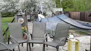 a set of 4 patio chairs