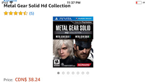 Ps vita Metal gear aniverssary edition one I,II,III games