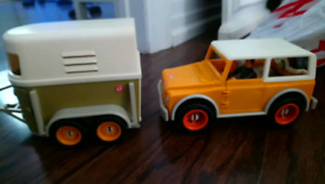 Schliech car and trailer