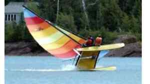 16' Hobie Cat Sailboat (Cat Fever Sails with yellow hulls)