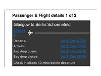 2 X flights to Berlin for New Year