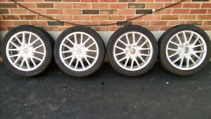 """VW 17"""" rims and tires"""