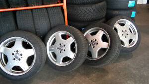 "18"" AMG nonStaggered Rim/Tire Set c/w Michelin Tires - $2,500"