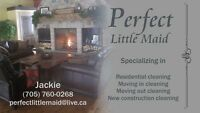 Perfect Little Maid is expanding . Hiring part time cleaner
