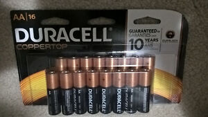 16 Duracell AA batteries - new package