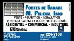 VENTE!! Portes de garage Garex ou Garaga