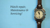 Minor watch repairs and routine servicing