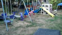 (older) Double Swing Set for Sale