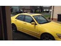 Lexus IS200 wind deflectors brand new, front and rear, also fit IS300/altezza