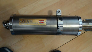 muffler yoshimura titanium   hight pipe pour gsxr 1100 88 a 92