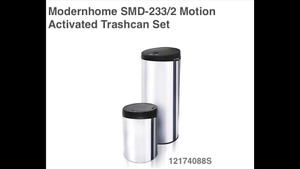 New set of 2 touchless trash cans