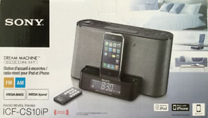 Radio-réveil pour iPod & iPhone Speaker dock / Clock radio