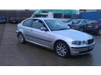 BMW 316 1.8 ti ES Compact 3 DOOR - 2004 54-REG - 9 MONTHS MOT