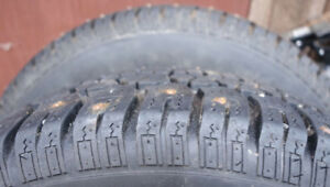 """13"""" Studded Winter Tires on Rims"""