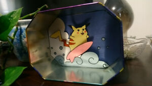 Surfing Pikachu Shadow Box.