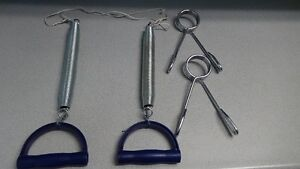 Spring Pulls, 2 Hand Springs, Weights with Bars