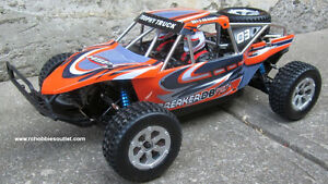 New RC Trophy Truck Brushless Electric,1/10 Scale LIPO 2,.4G RTR