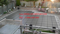 Pool Safety Mesh Cover with Installation for Blowout Sale in GTA