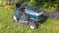 Non working riding lawnmower
